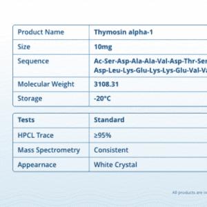 Thymosin Alpha 1 – 10mg Pre Mixed Pen